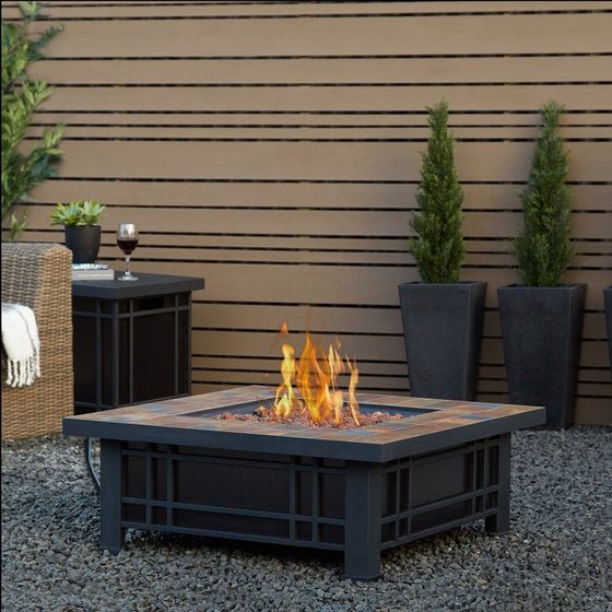 REAL FLAME 906LP MORRISON PROPANE FIRE TABLE