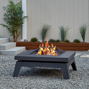 REAL FLAME 940 BRETON WOOD BURNING FIRE PIT