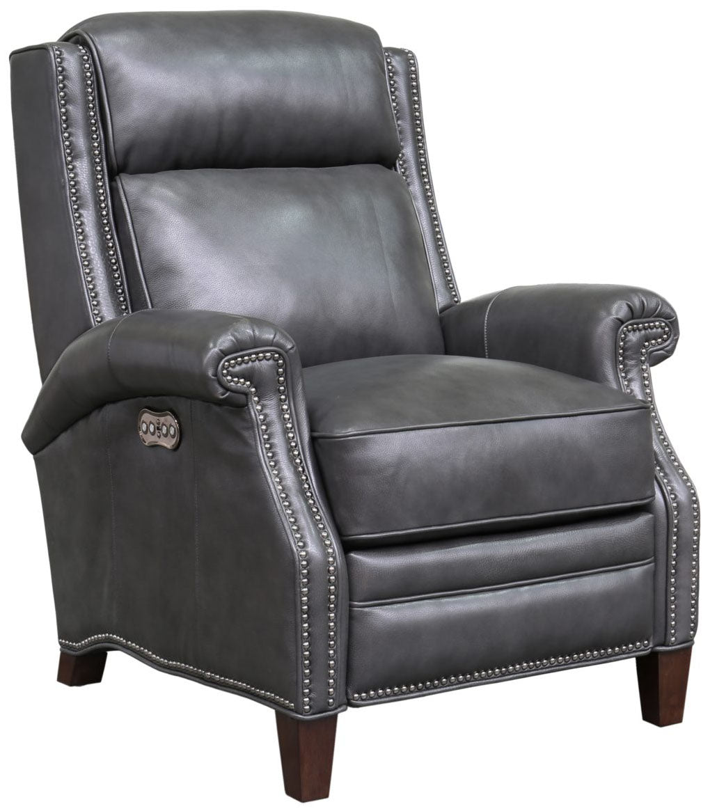 Barcalounger Barrett Wing Back Power Leather Recliner
