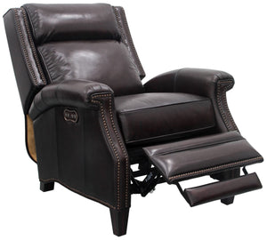 Barrett Wing Back Power Leather Recliner