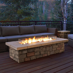 "REAL FLAME C11813LP SEDONA 66"" LARGE RECTANGLE W/NG CONVERSION KIT"