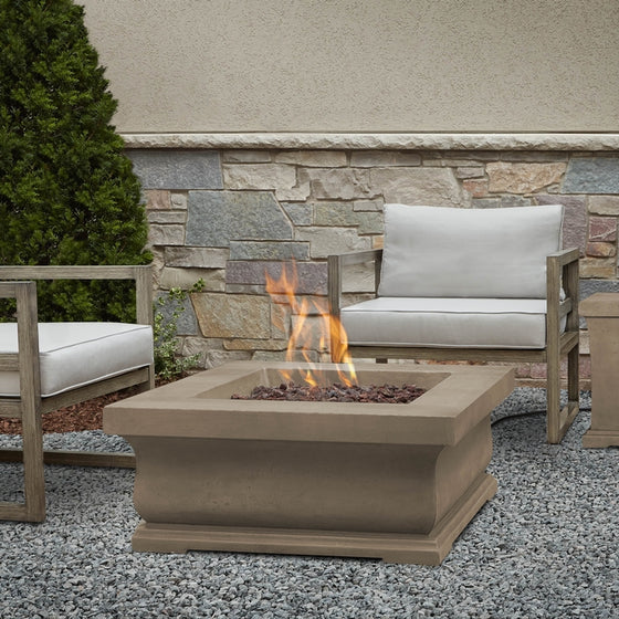 REAL FLAME C11842LP TREVISO SQUARE LP FIRE PIT W/NG CONVERSION KIT