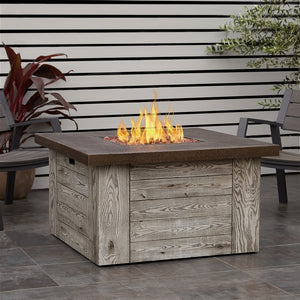 REAL FLAME C1600LP FOREST RIDGE LP SQUARE FIRE TABLE W/NG CONVERSION KIT