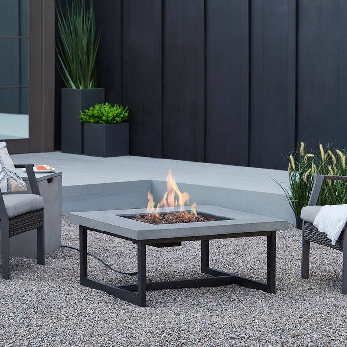 REAL FLAME C820LP BRENNER LP FIRE TABLE W/NG CONVERSION KIT