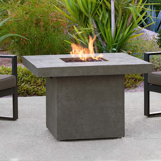 REAL FLAME C9630LP VENTURA SQUARE CHAT FIRE TABLE W/NG CONVERSION KIT