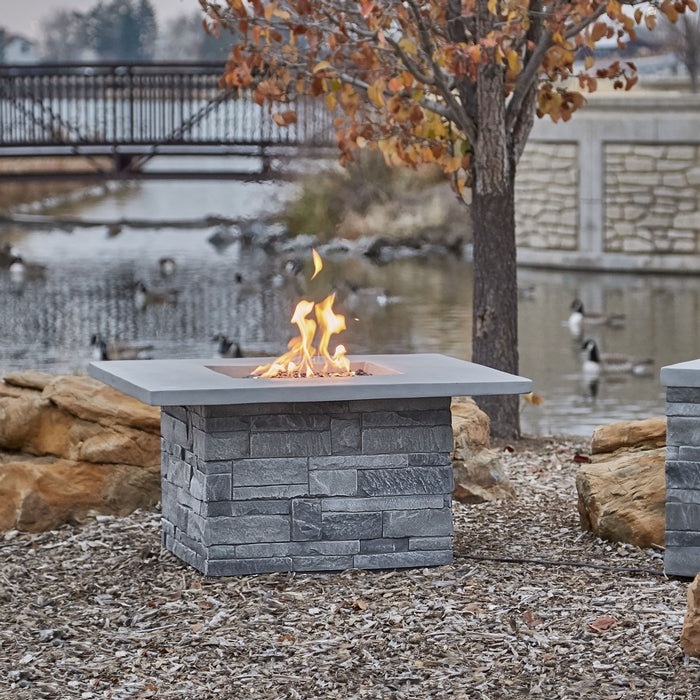 REAL FLAME CT0011LP GRAY LEDGESTONE LP FIRE TABLE W/NG CONVERSION KIT