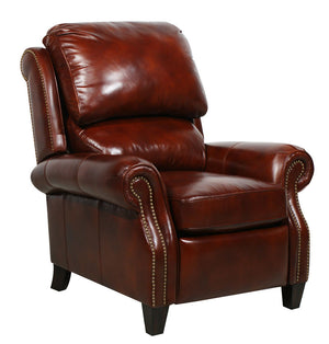Lift and Massage Chairs Barcalounger Churchill ll Art Burl Leather Recliner
