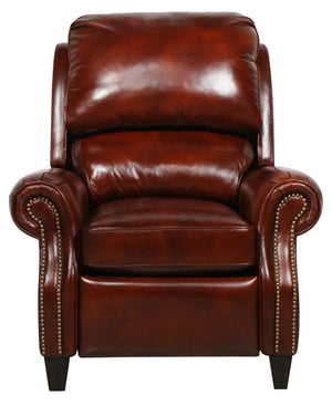 Lift and Massage Chairs Barcalounger Churchill ll Art Burl Leather Power Recliner