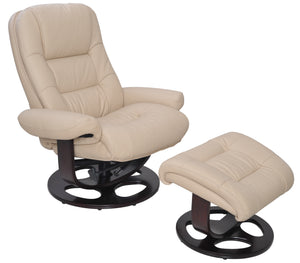 Barcalounger Jacque Leather Pedestal Recliner