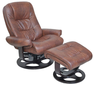 Jacque Leather Pedestal Recliner