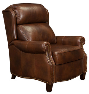 Barcalounger Meade Small Scale Wing Back Leather Recliner