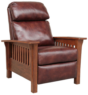 Mission Leather Push Back Recliner