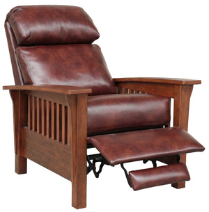 Barcalounger Mission Leather Push Back Recliner