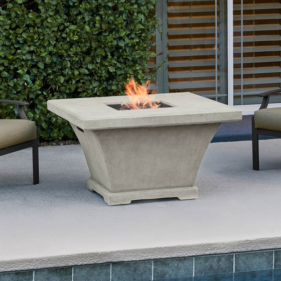 REAL FLAME 11702LP MONACO SQUARE PROPANE FIRE TABLE