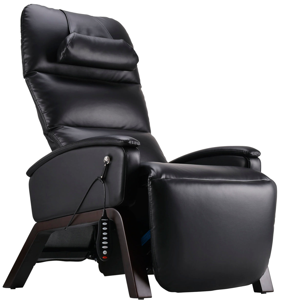 Svago Lite Zero Gravity Recliner - by Cozzia (black with dark walnut finish)