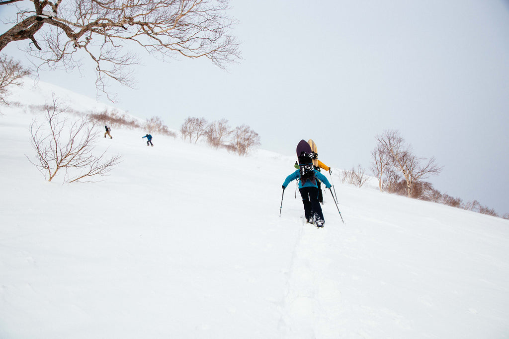 mt yotei, japan, snowboarding, mizu life, gentem sticks, hiking