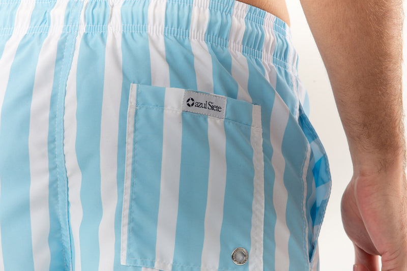 Light Blue Stripes - azul Siete