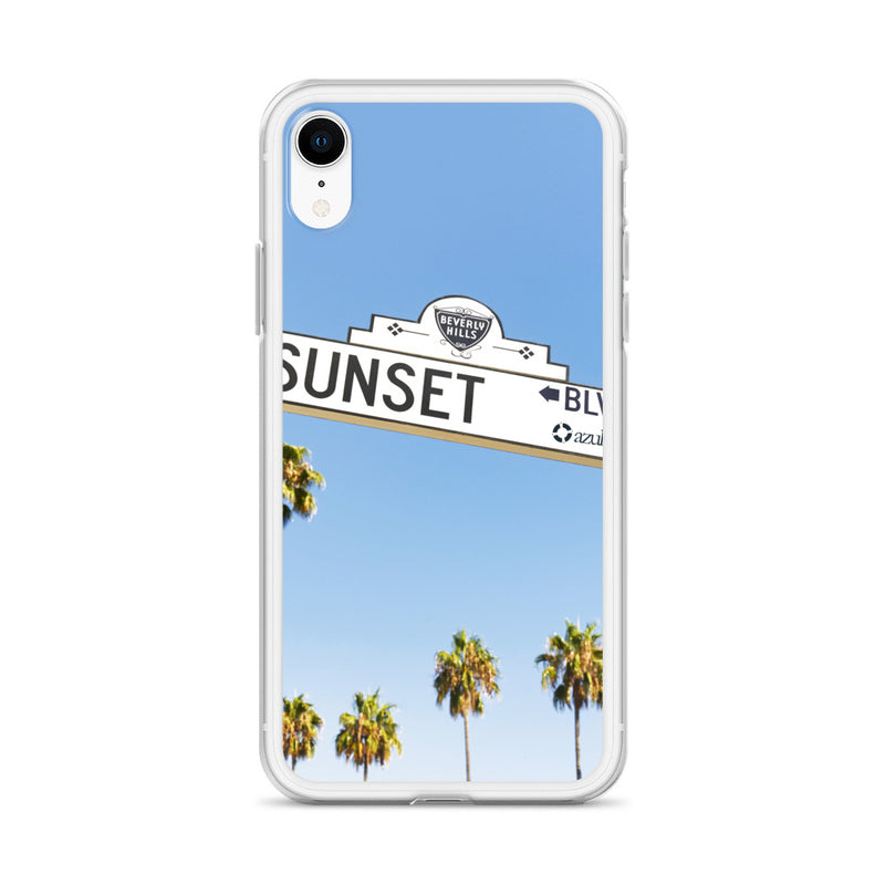 Sunset Blvd iPhone Case - azul Siete