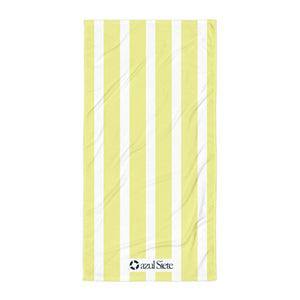 Yellow Stripes Beach Towel - azul Siete