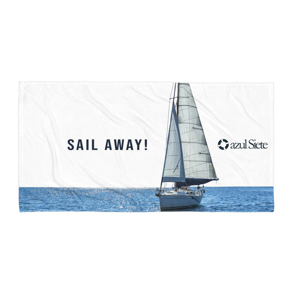 Sail Away Beach Towel - azul Siete