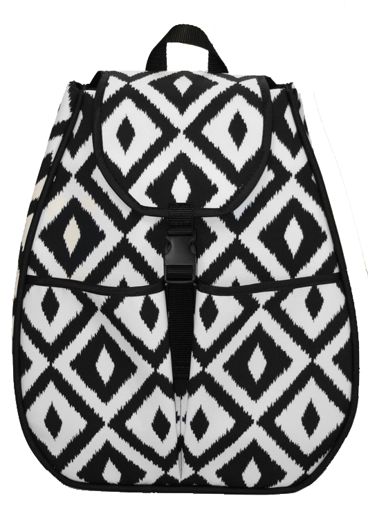 Sophi Flap - Black & White Ikat
