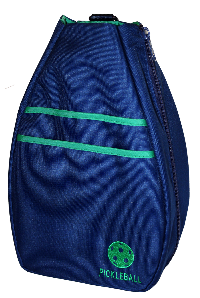 Pickleball Backpack - Navy Blue with Green Lining