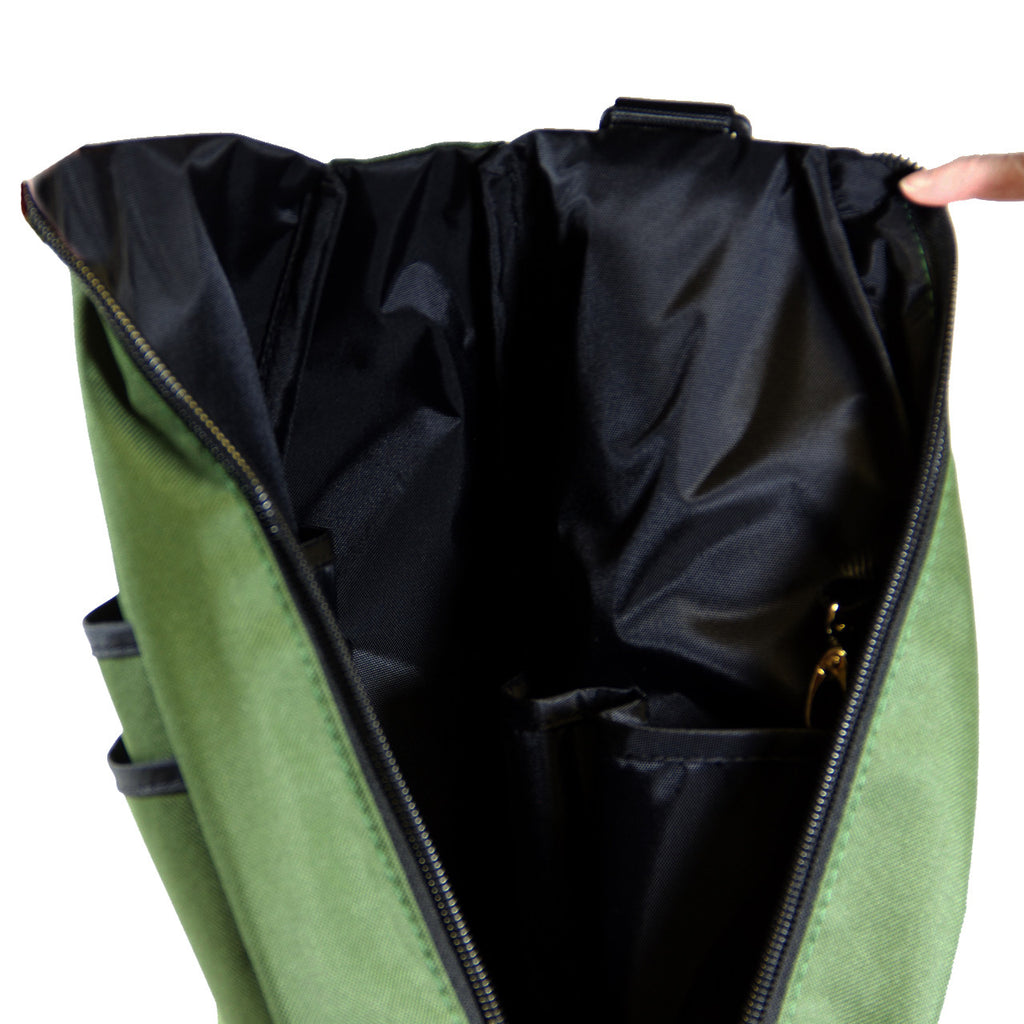 Pickleball Backpack - Olive Drab with Black Lining