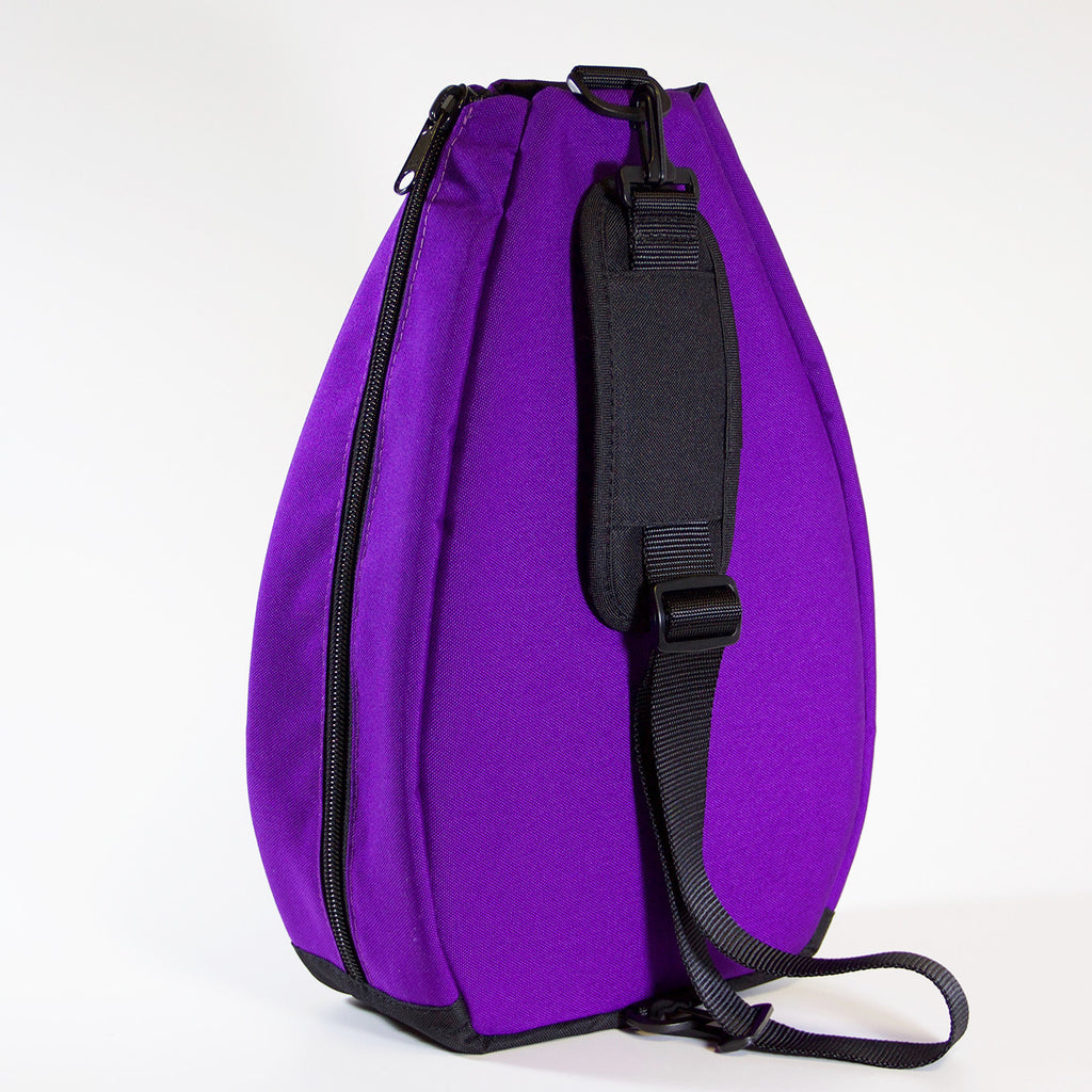 Pickleball Backpack - Purple with Black Lining