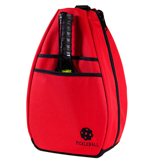 Pickleball Backpack -  - Red/Black Lining