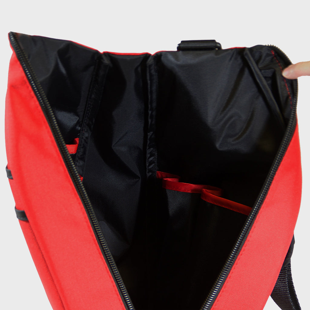 Pickleball Backpack - Red with Black Lining