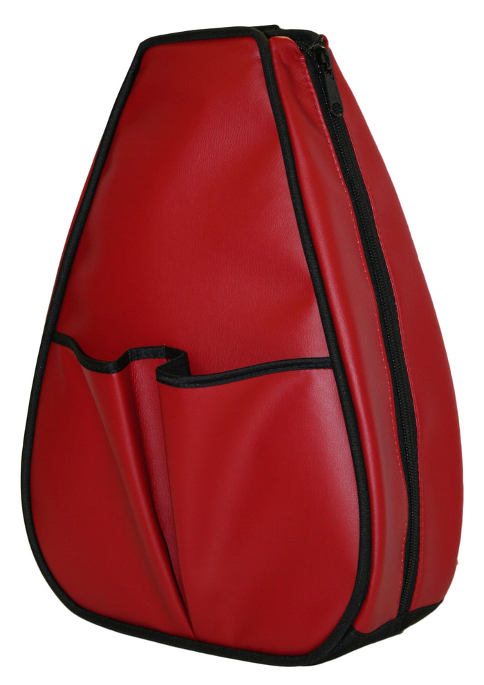 Sophi Backpack - Red Faux Leather