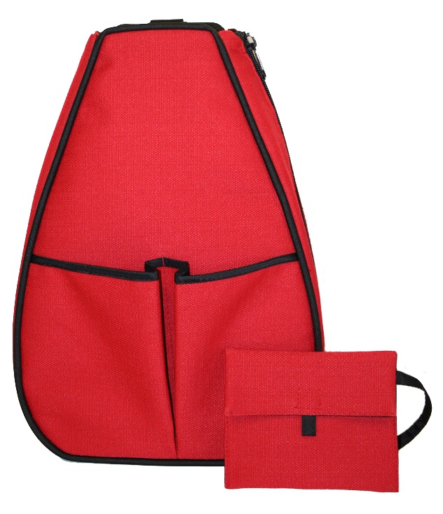 Sophi Backpack - Red Linen