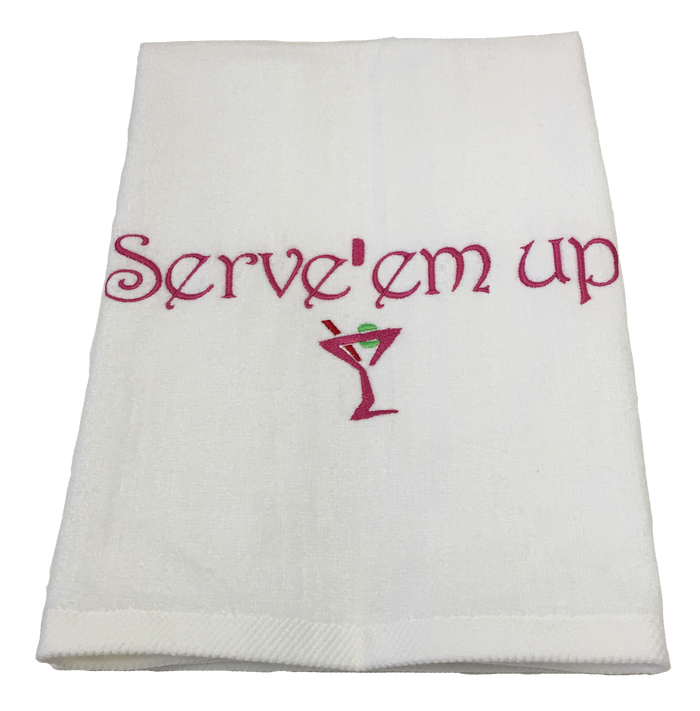 Tennis Towel - Serve 'em Up
