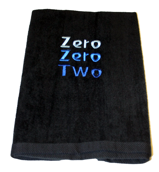 Pickleball Towel - Zero Zero Two Black