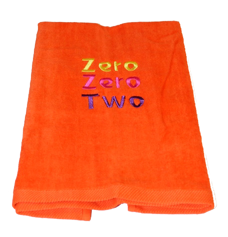 Pickleball Towel - Zero Zero Two Orange