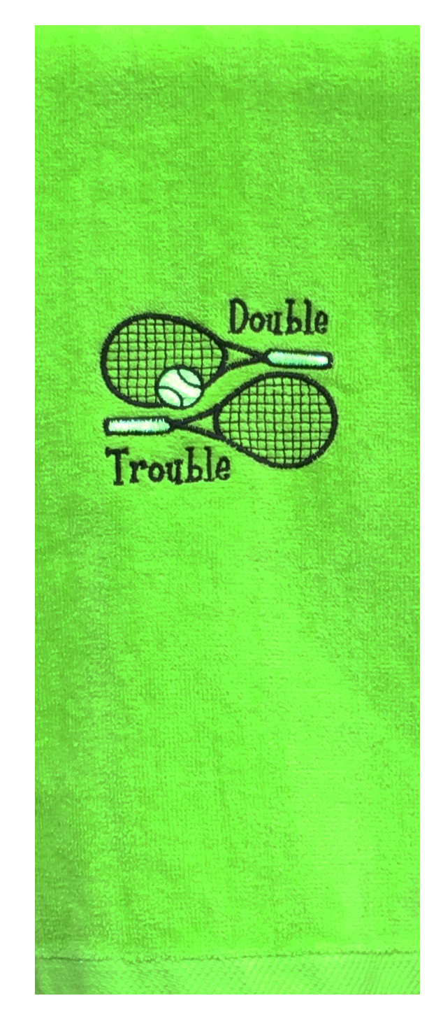 Tennis Towel - Double Trouble Green