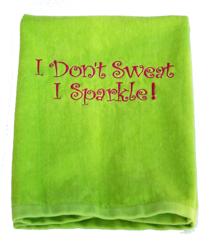 Tennis Towel - I Don't Sweat I Sparkle