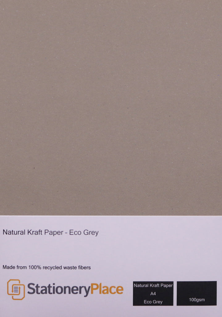 A4 Kraft Paper Eco White & Eco Grey 100gsm 100% Recycled 1 sheet to 100 sheets