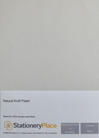 recycled paper eco white