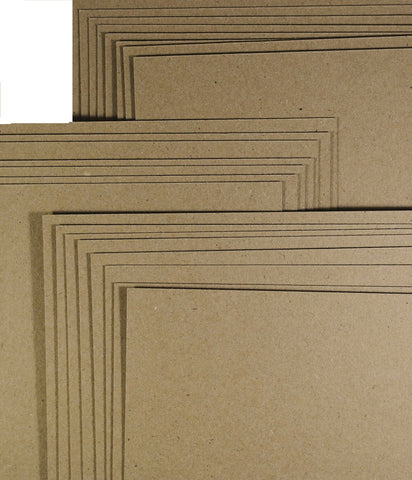 12x12 Cardstock - Kraft 280gsm Recycled
