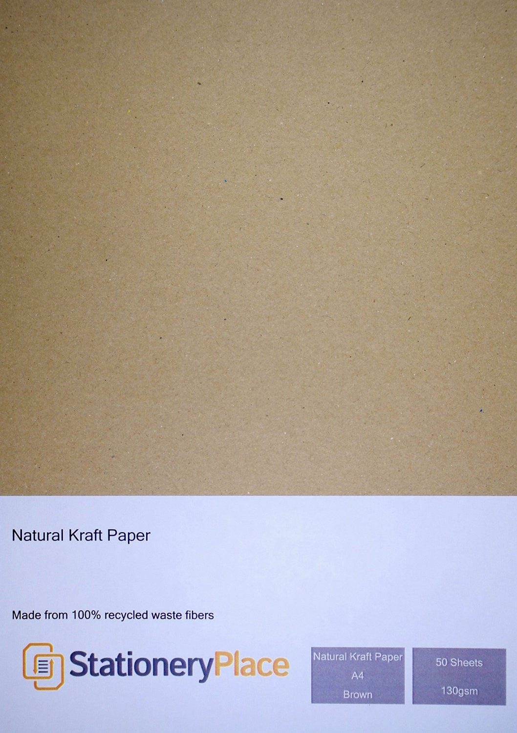 Brown Kraft Paper A4 130 GSM Eco Brown 100% Recycled