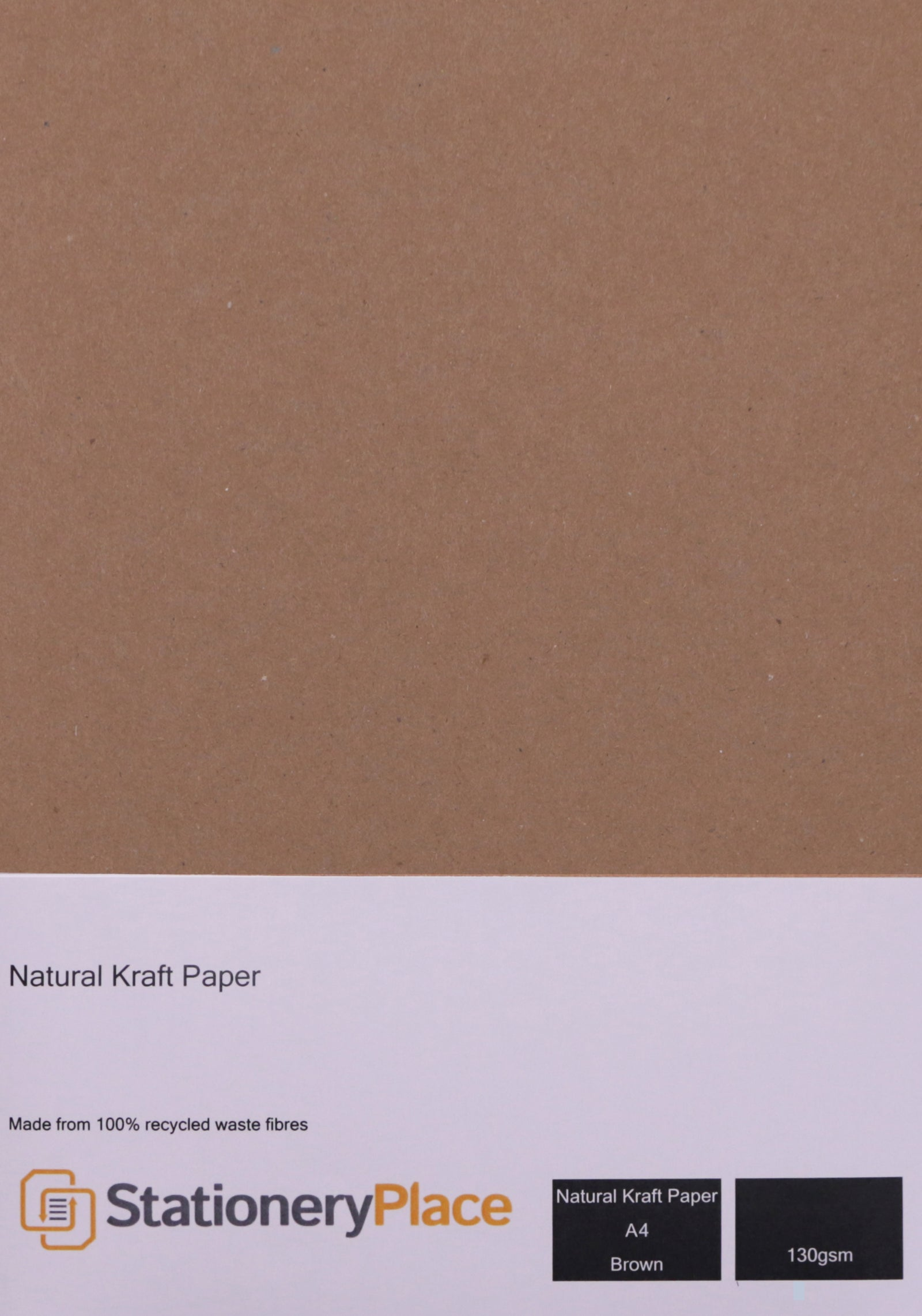 Eco Kraft Paper 130 GSM Brown 100% Recycled A4 & A5 Pack sizes 1 - 1000 sheets