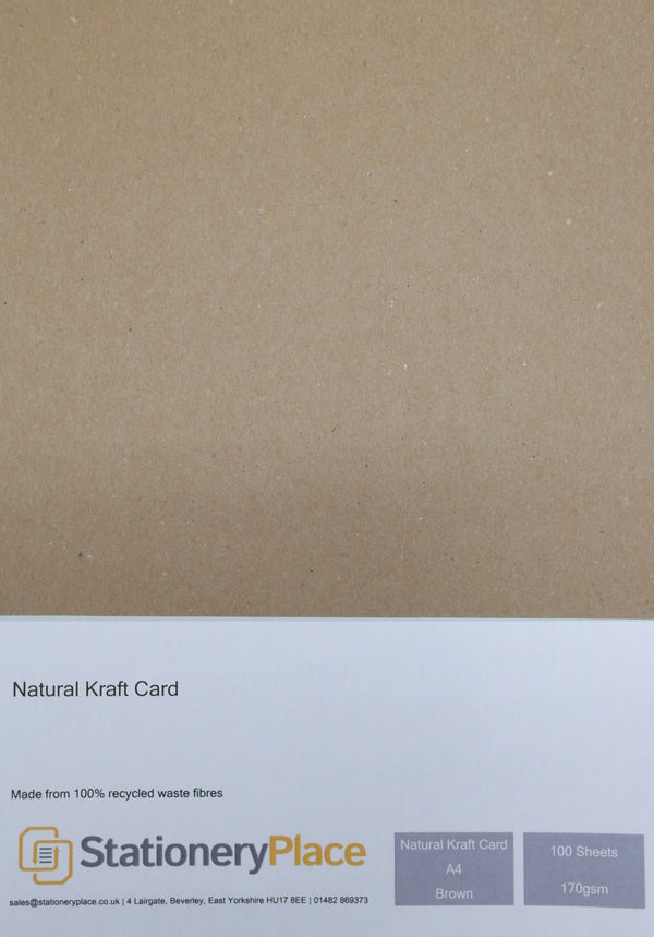 Kraft Card A4 Recycled 170gsm