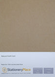 Kraft Card A4 10 SHEETS 170GSM - 100% Natural Recycled  Ideal for Wedding Craft Menus
