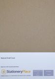 NATURAL KRAFT CARD - A5 50 SHEETS 170GSM - 100% RECYCLED