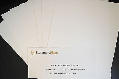 Stationery Place Letterhead Paper - A4 - Ultra Smooth, Brilliant White