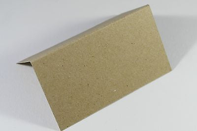 Eco Kraft Place Name Cards 280 GSM Weddings. Dinner Parties  - Pack of 25