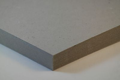 GREY BOARD STIFFENERS - A4 500 Micron 10 SHEETS - 100% RECYCLED