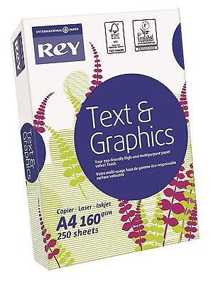 Rey Text & Graphics A4 160gsm White Card