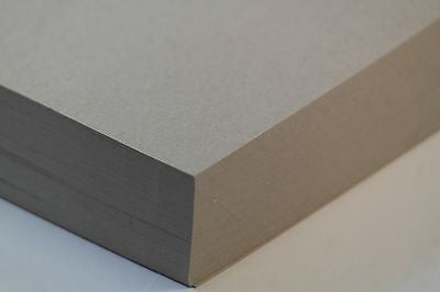 Greeting Card Grey Board Craft Card  Recycled- Rough A4 10 Pack 350GSM